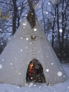 tipi im winter